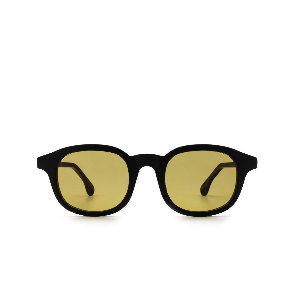 Chimi® Square Sunglasses: 01 ACTIVE color Black - front view.