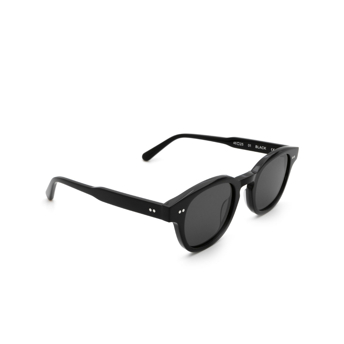 Chimi® Square Sunglasses: 01 color Black - three-quarters view.