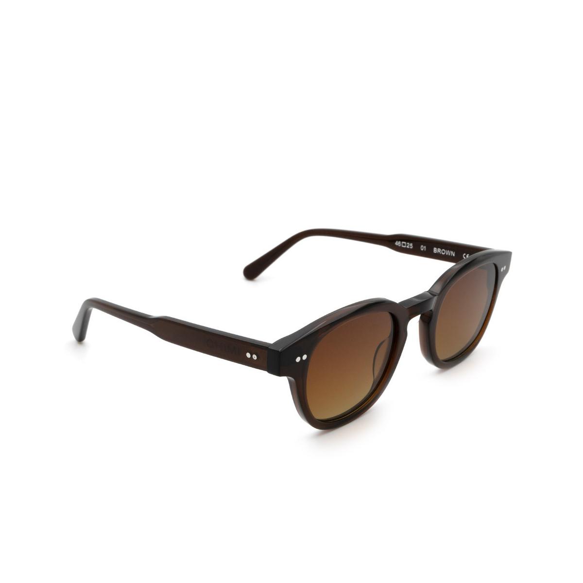 Chimi® Square Sunglasses: 01 color Brown.