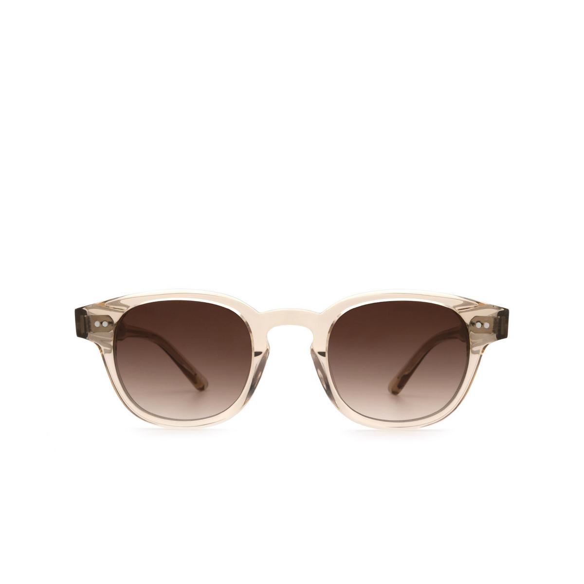 Chimi® Square Sunglasses: 01 color Ecru - front view.
