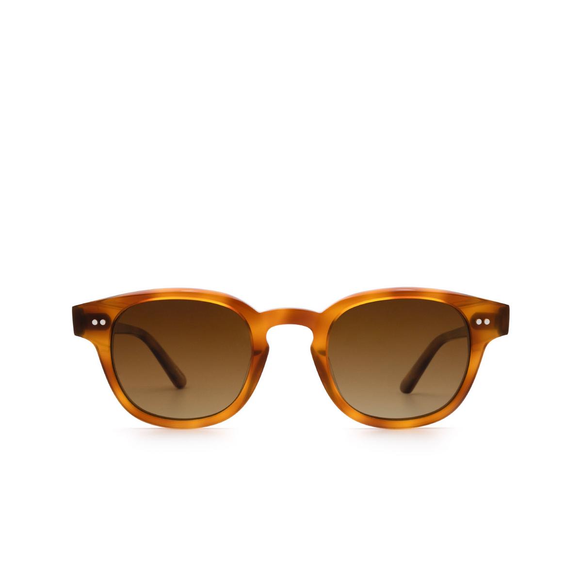 Chimi® Square Sunglasses: 01 color Havana - front view.