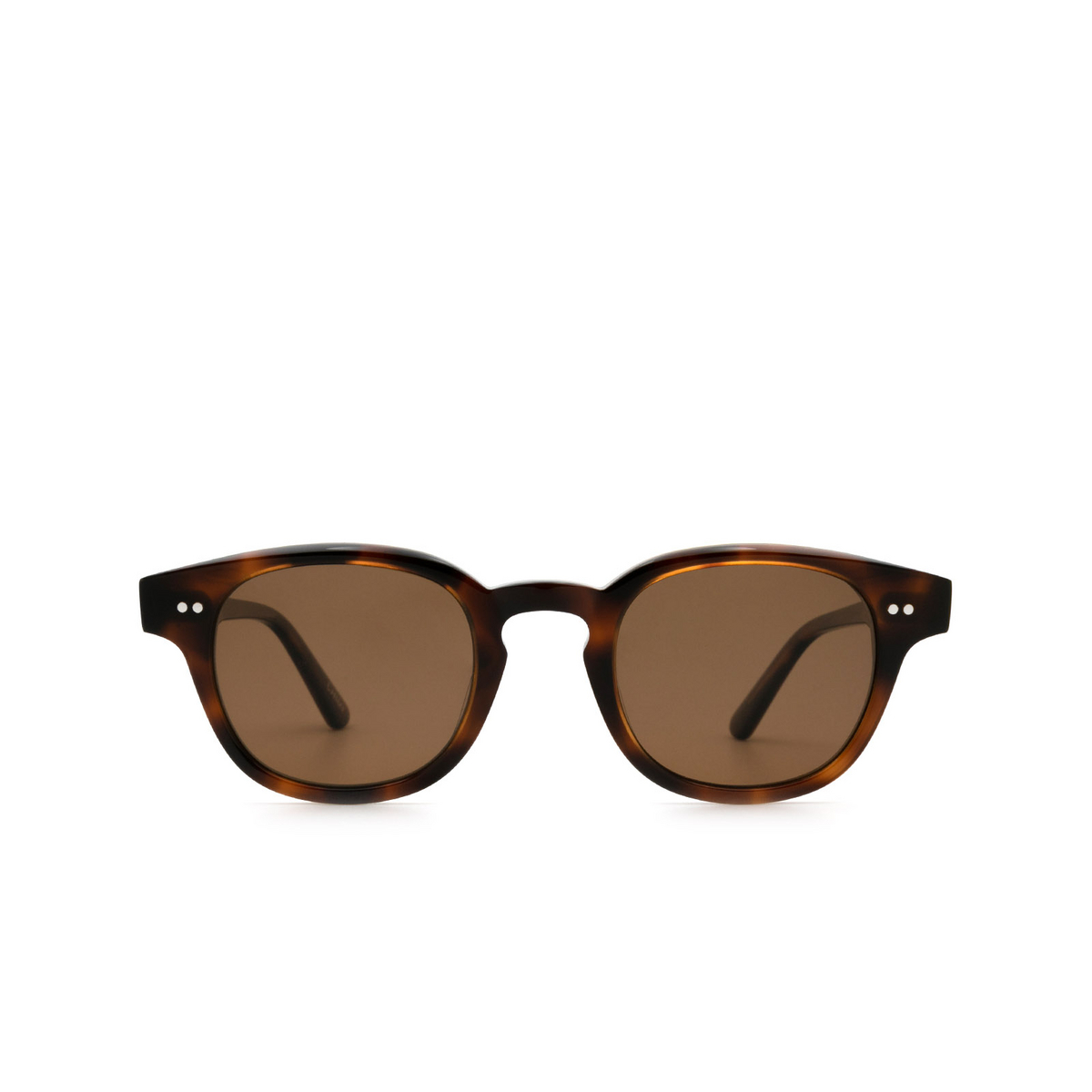Chimi® Square Sunglasses: 01 color Tortoise - front view.