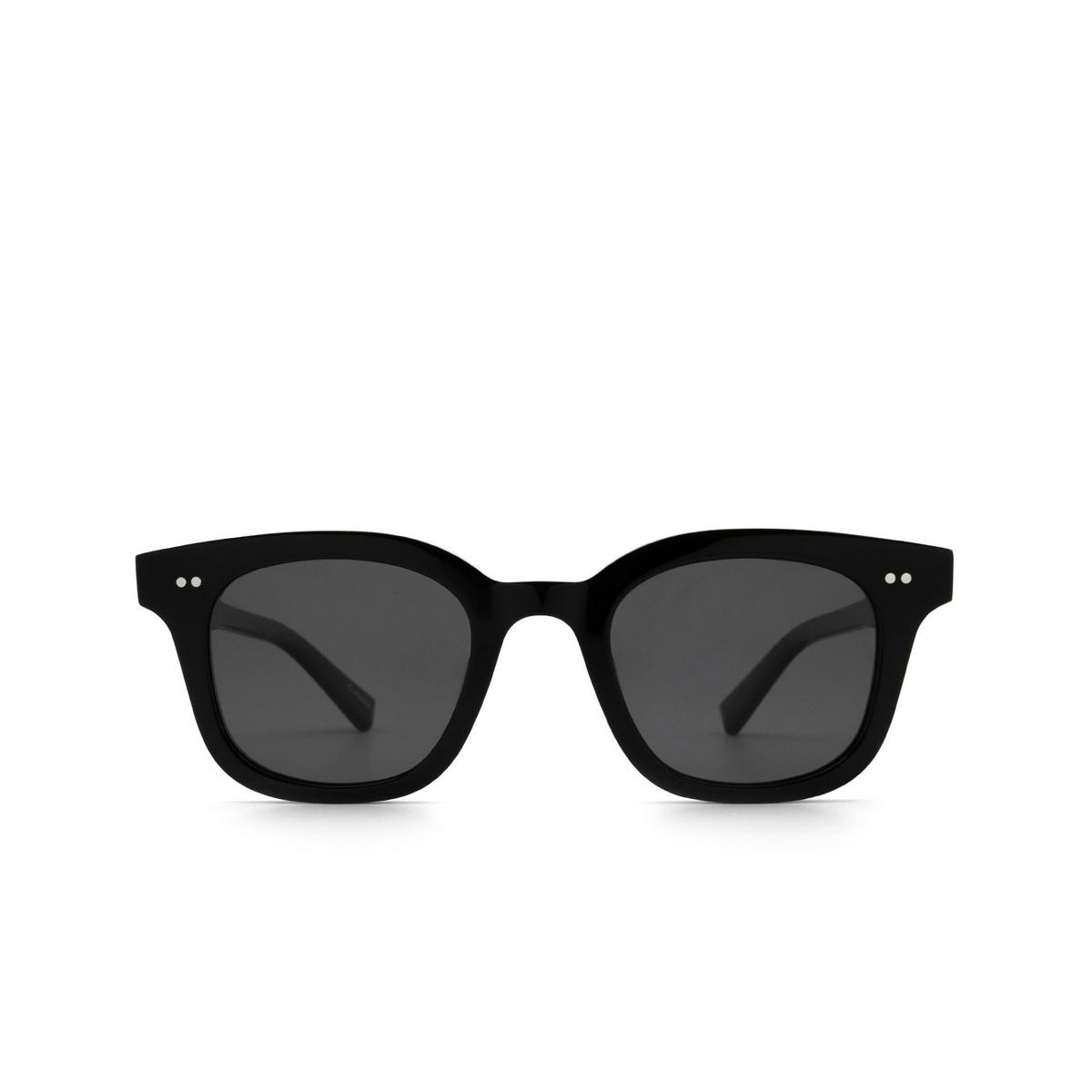 Chimi® Square Sunglasses: 02 color Black - front view.