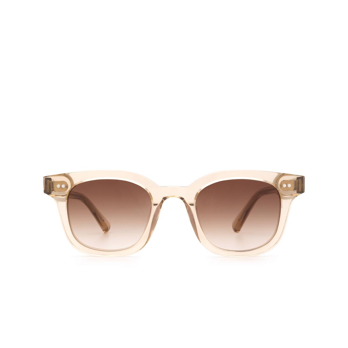 Chimi® Square Sunglasses: 02 color Ecru - front view.