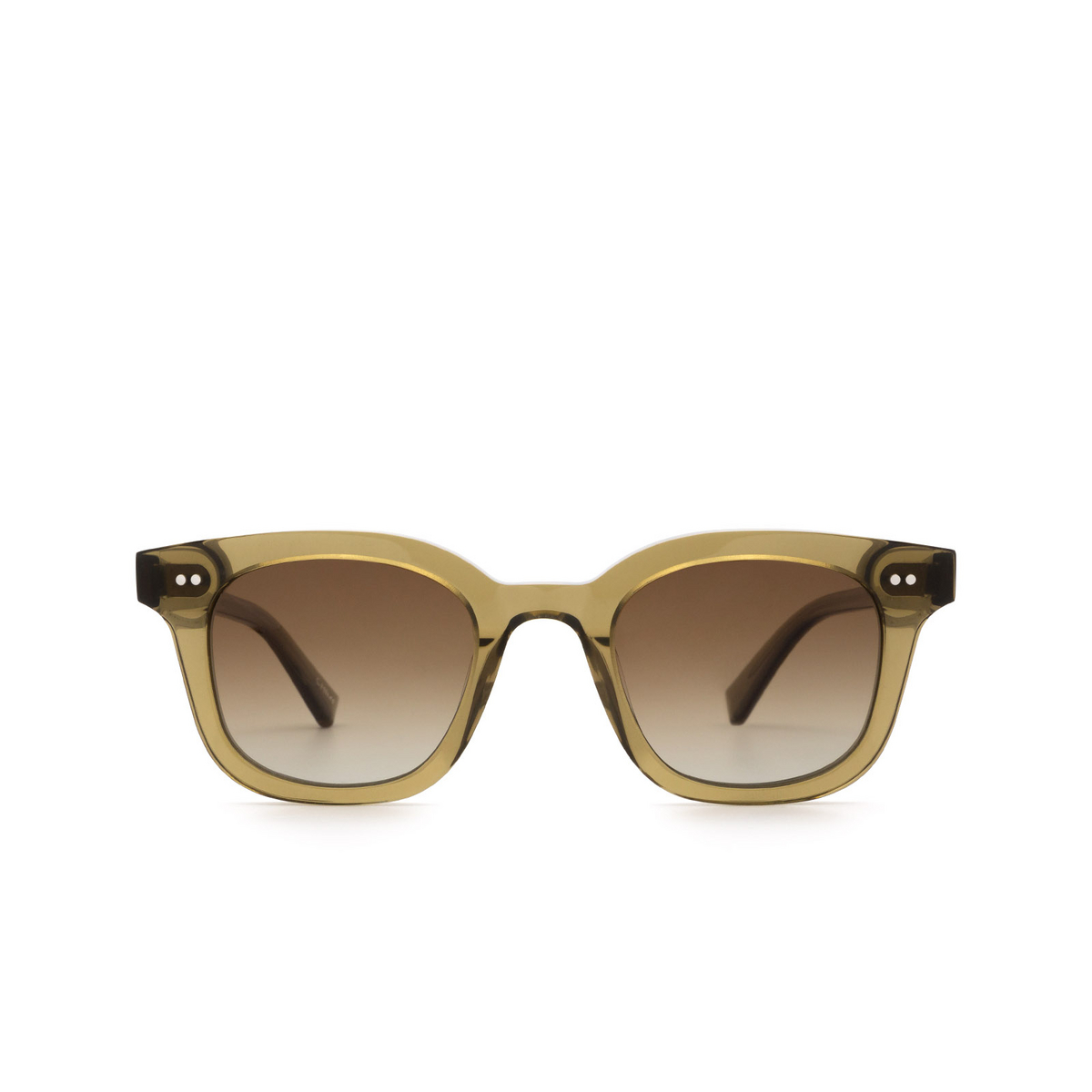 Chimi® Square Sunglasses: 02 color Green - front view.