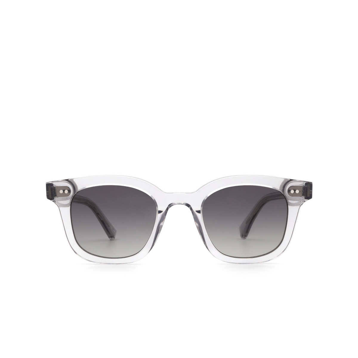 Chimi® Square Sunglasses: 02 color Grey - front view.