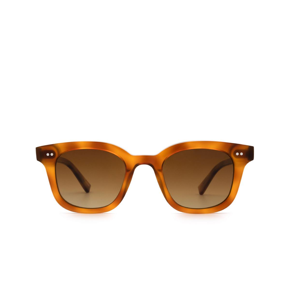 Chimi® Square Sunglasses: 02 color Havana - front view.