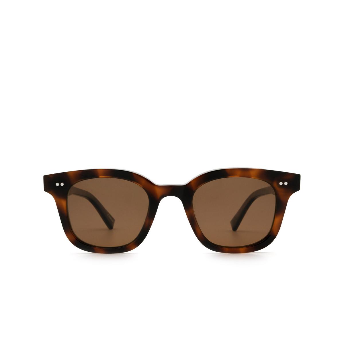 Chimi® Square Sunglasses: 02 color Tortoise - front view.