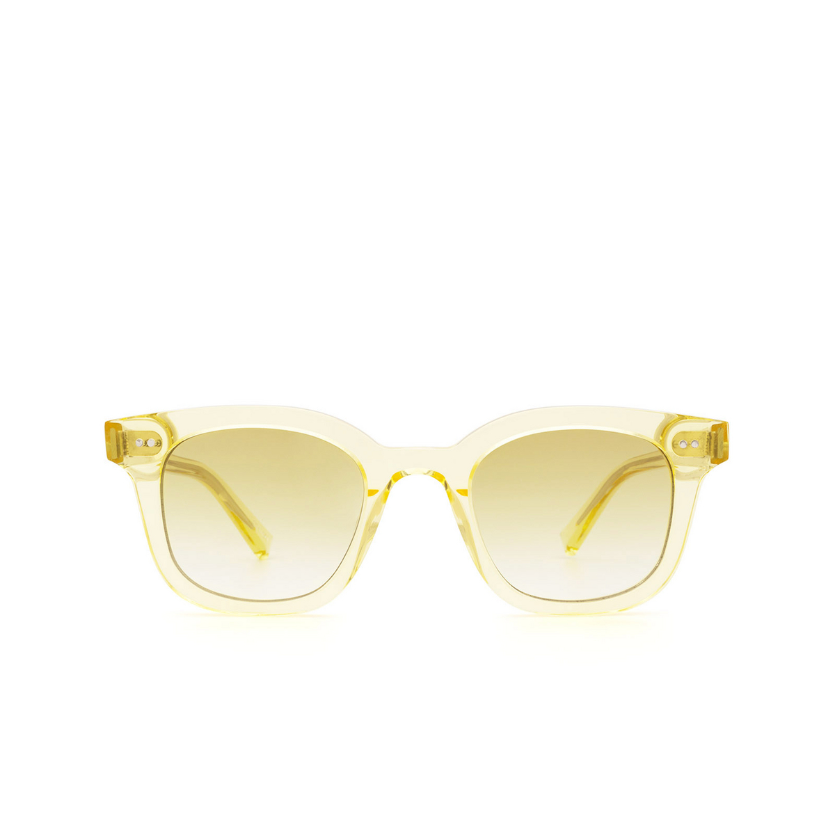 Chimi® Square Sunglasses: 02 color Yellow - front view.