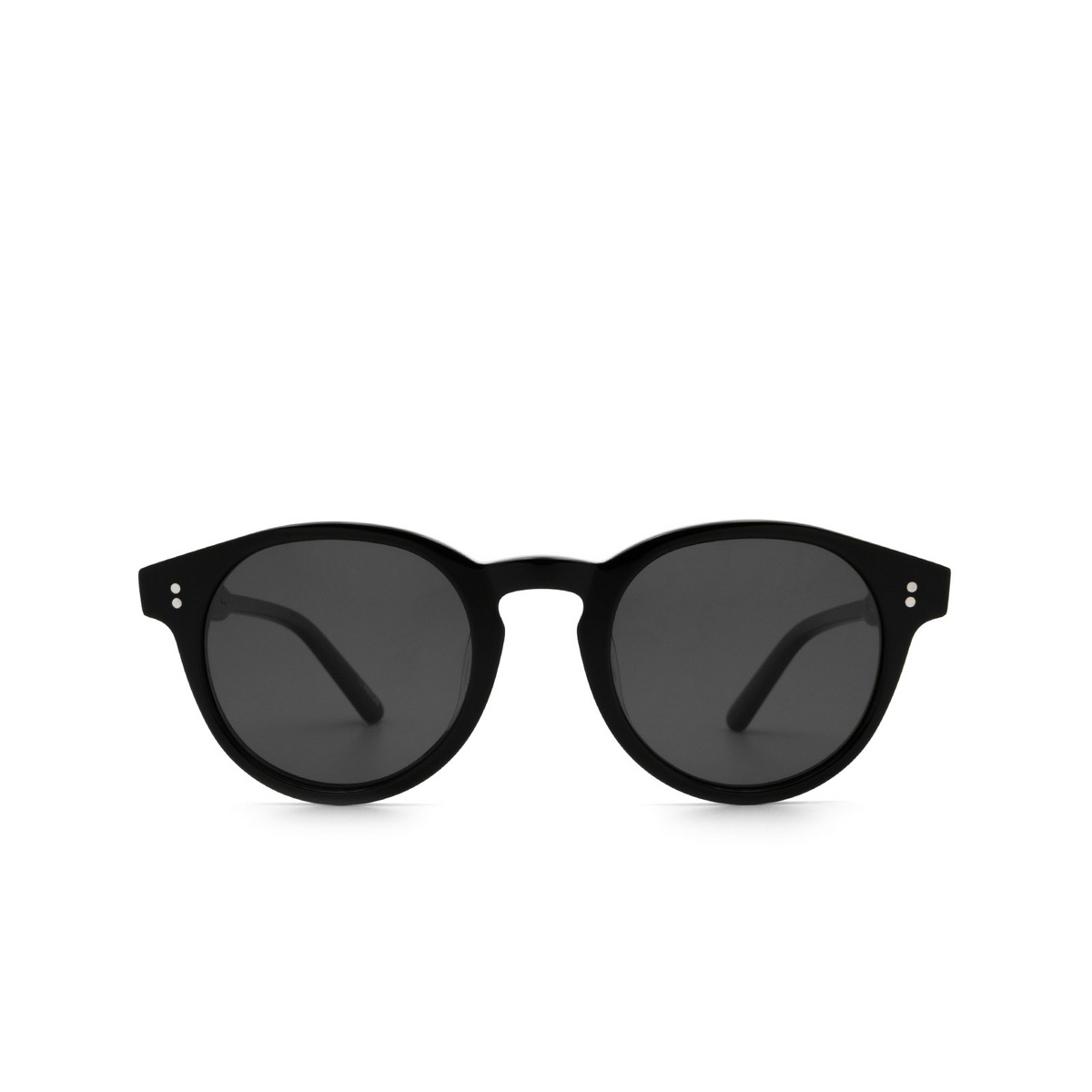 Chimi® Round Sunglasses: 03 color Black - front view.