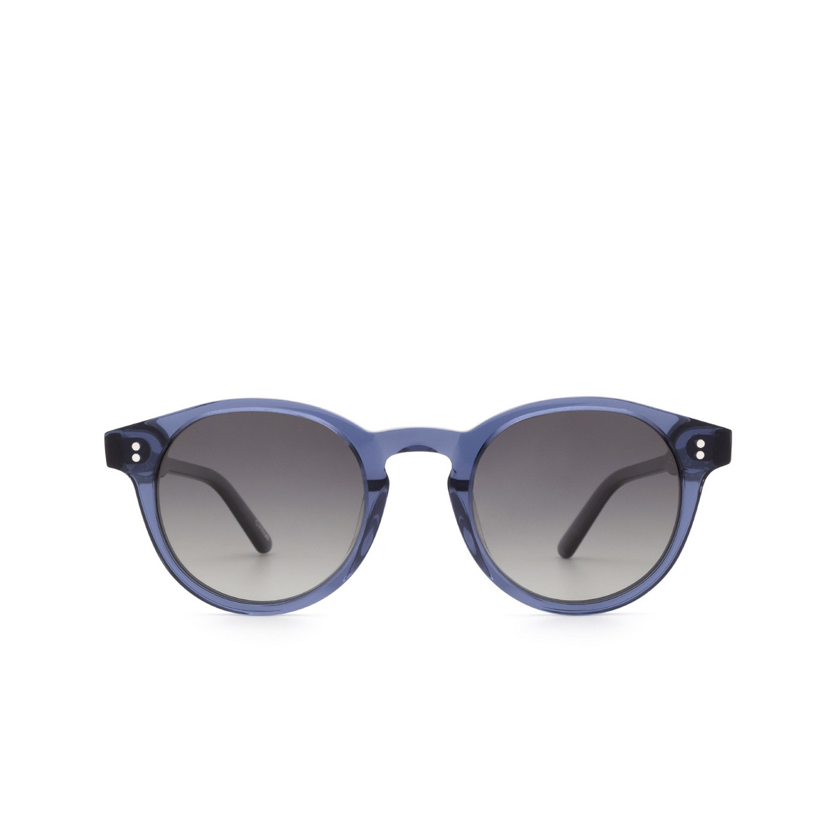Chimi® Round Sunglasses: 03 color Blue - front view.