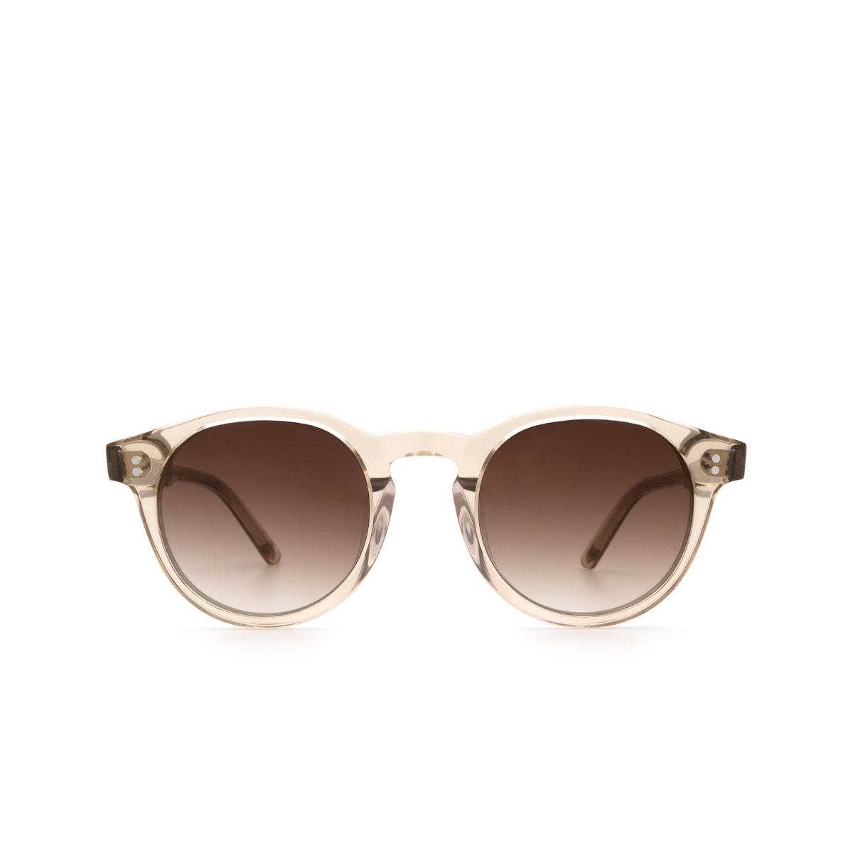 Chimi® Round Sunglasses: 03 color Ecru - front view.