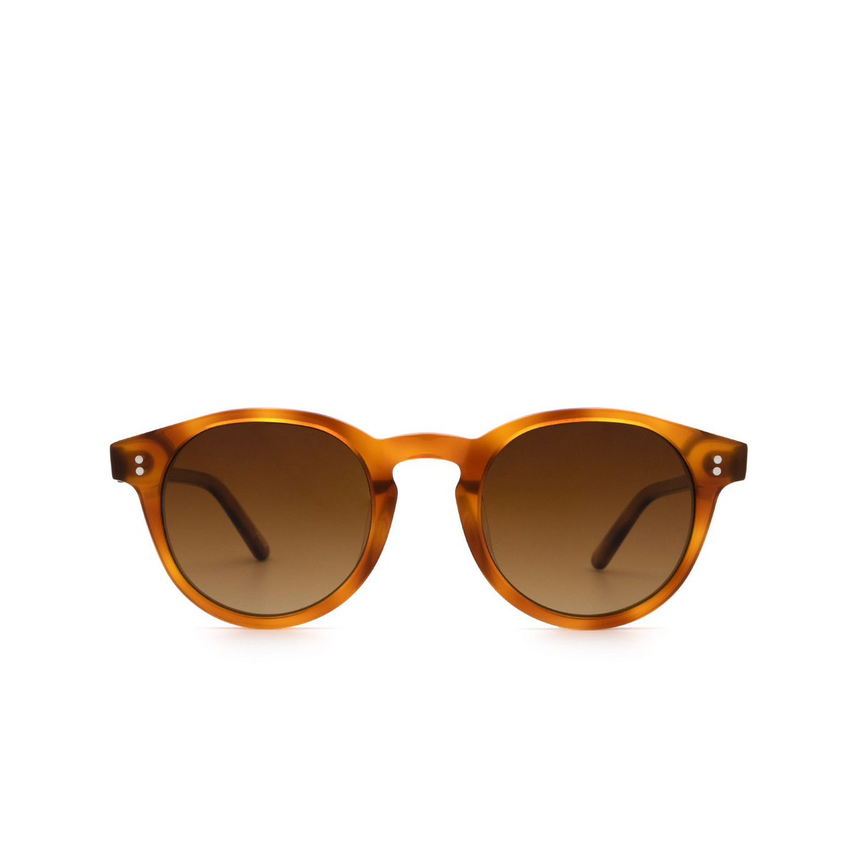 Chimi® Round Sunglasses: 03 color Havana - front view.