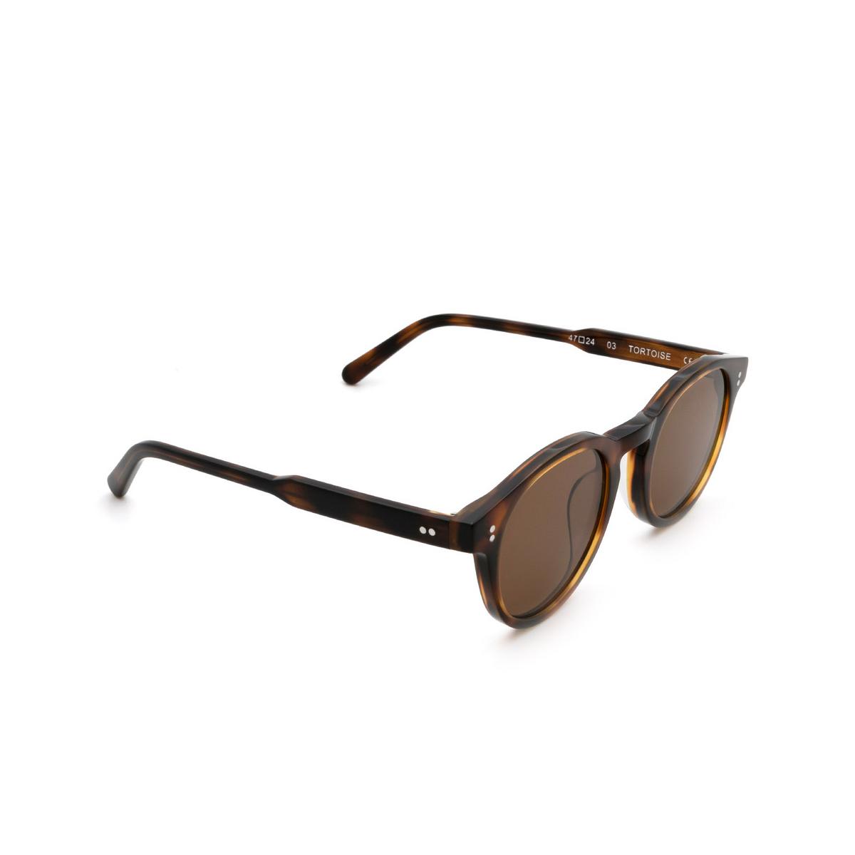 Chimi® Round Sunglasses: 03 color Tortoise.