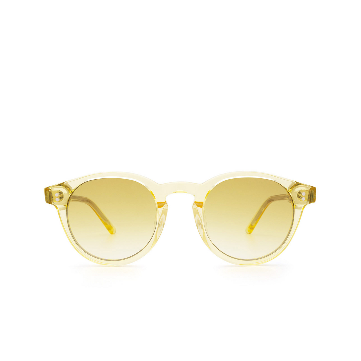 Chimi® Round Sunglasses: 03 color Yellow - front view.