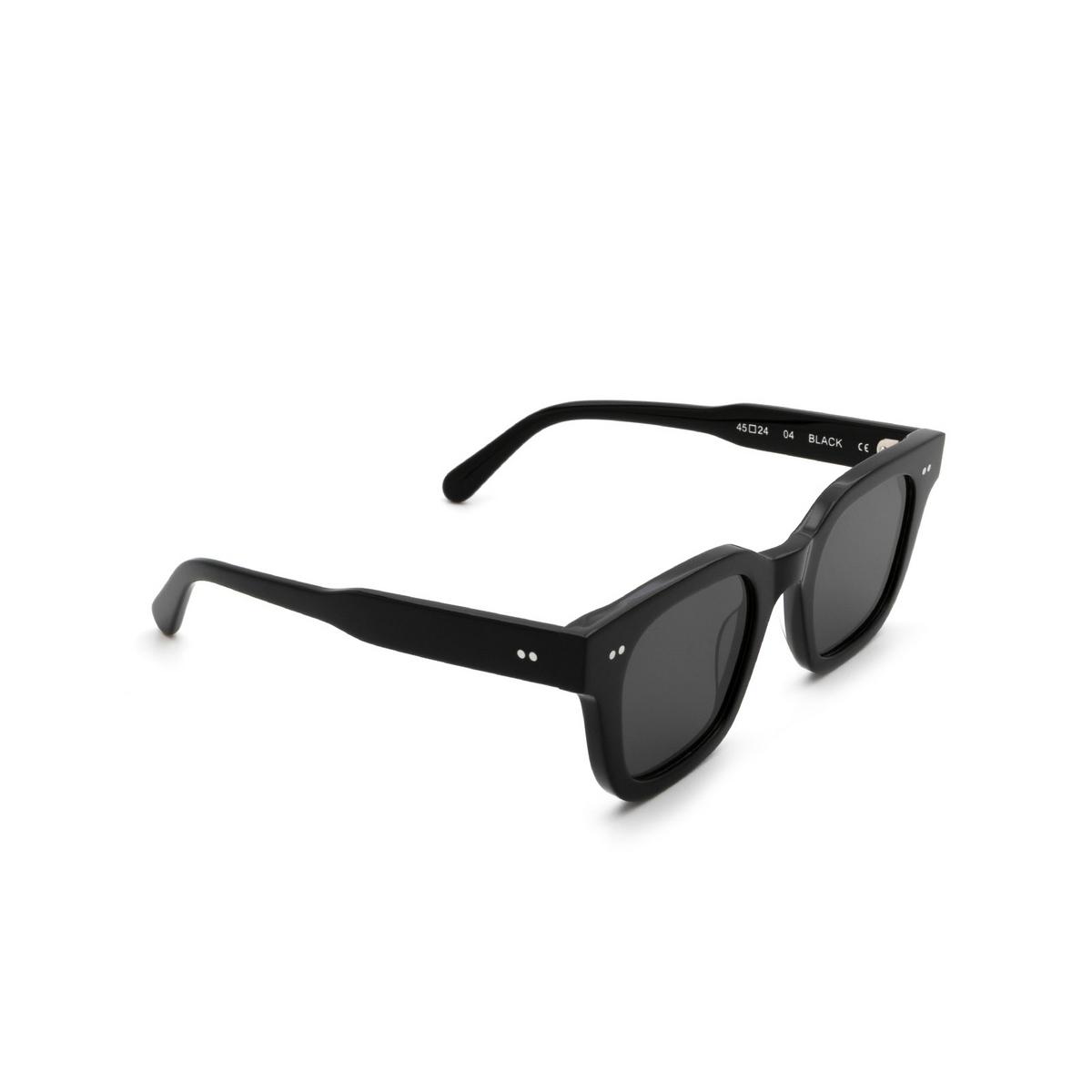 Chimi® Square Sunglasses: 04 color Black - three-quarters view.