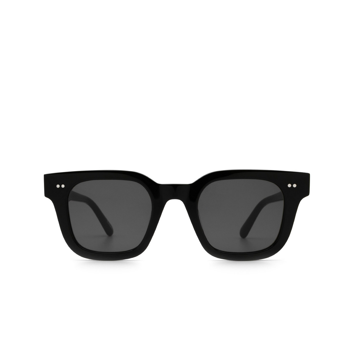 Chimi® Square Sunglasses: 04 color Black - front view.