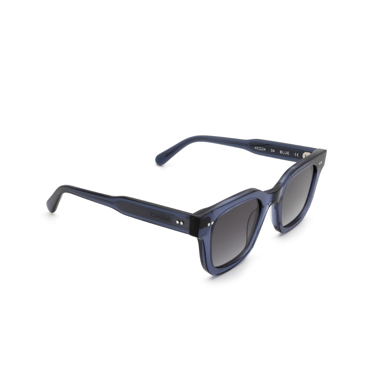 Chimi® Square Sunglasses: 04 color Blue - three-quarters view.