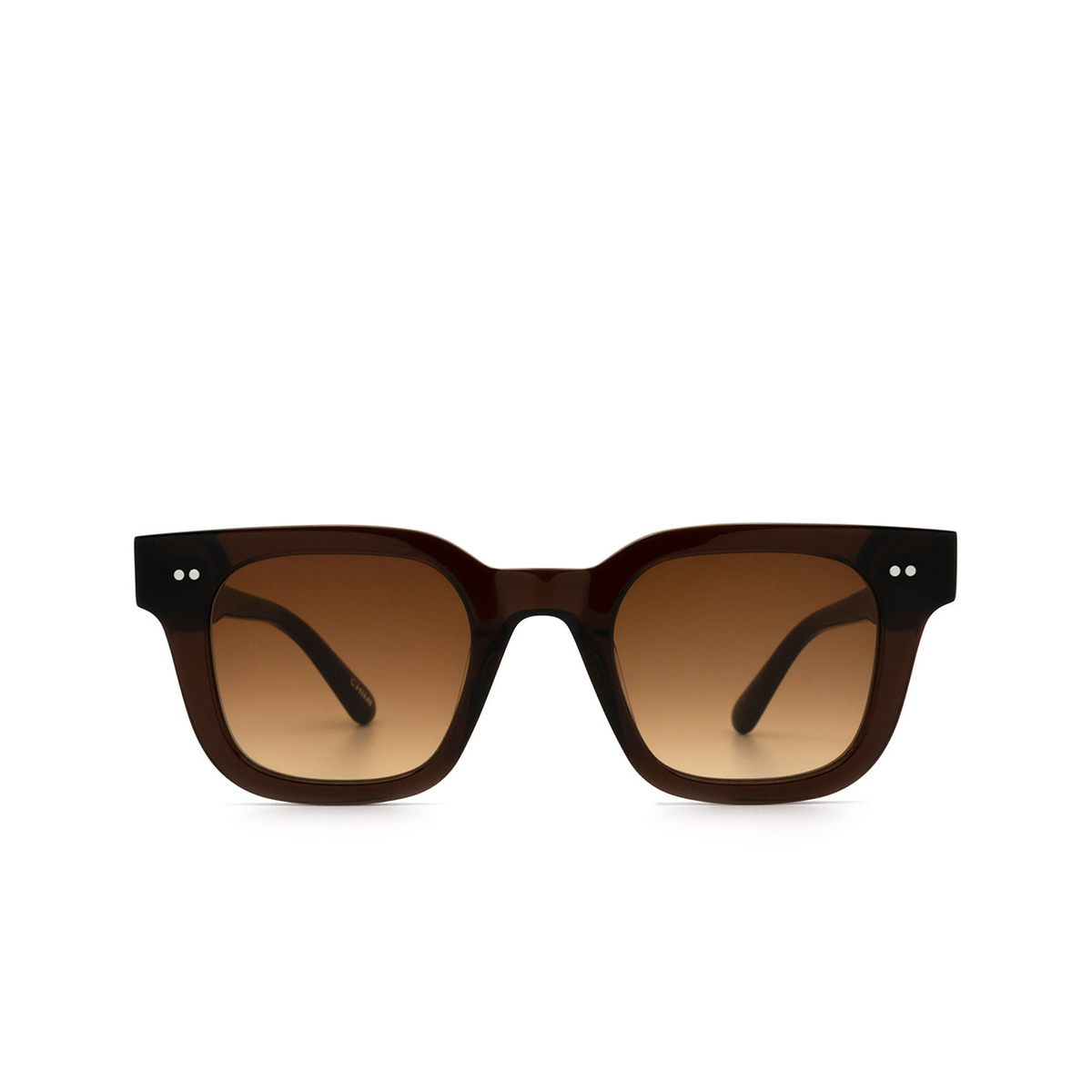 Chimi® Square Sunglasses: 04 color Brown - front view.