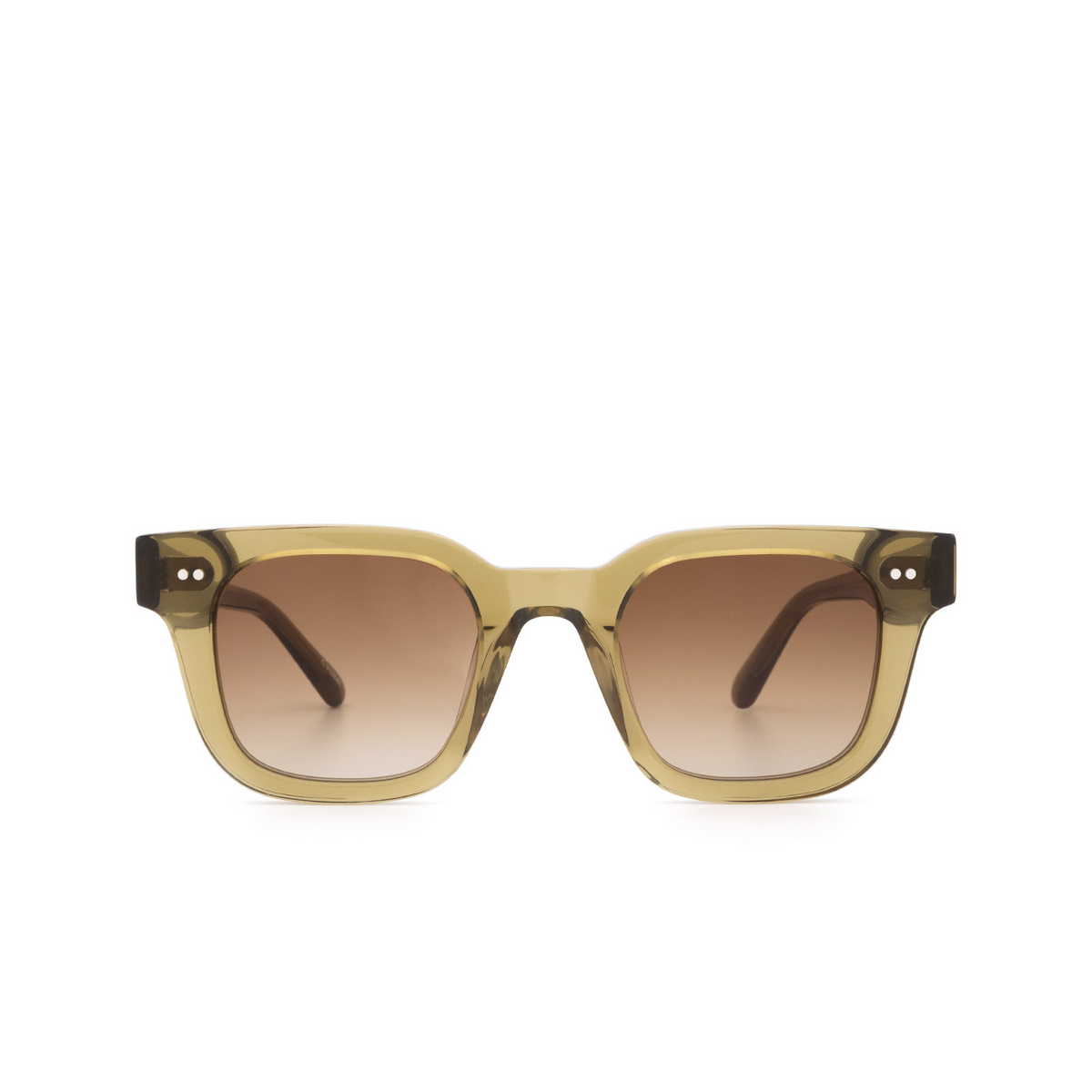 Chimi® Square Sunglasses: 04 color Green - front view.