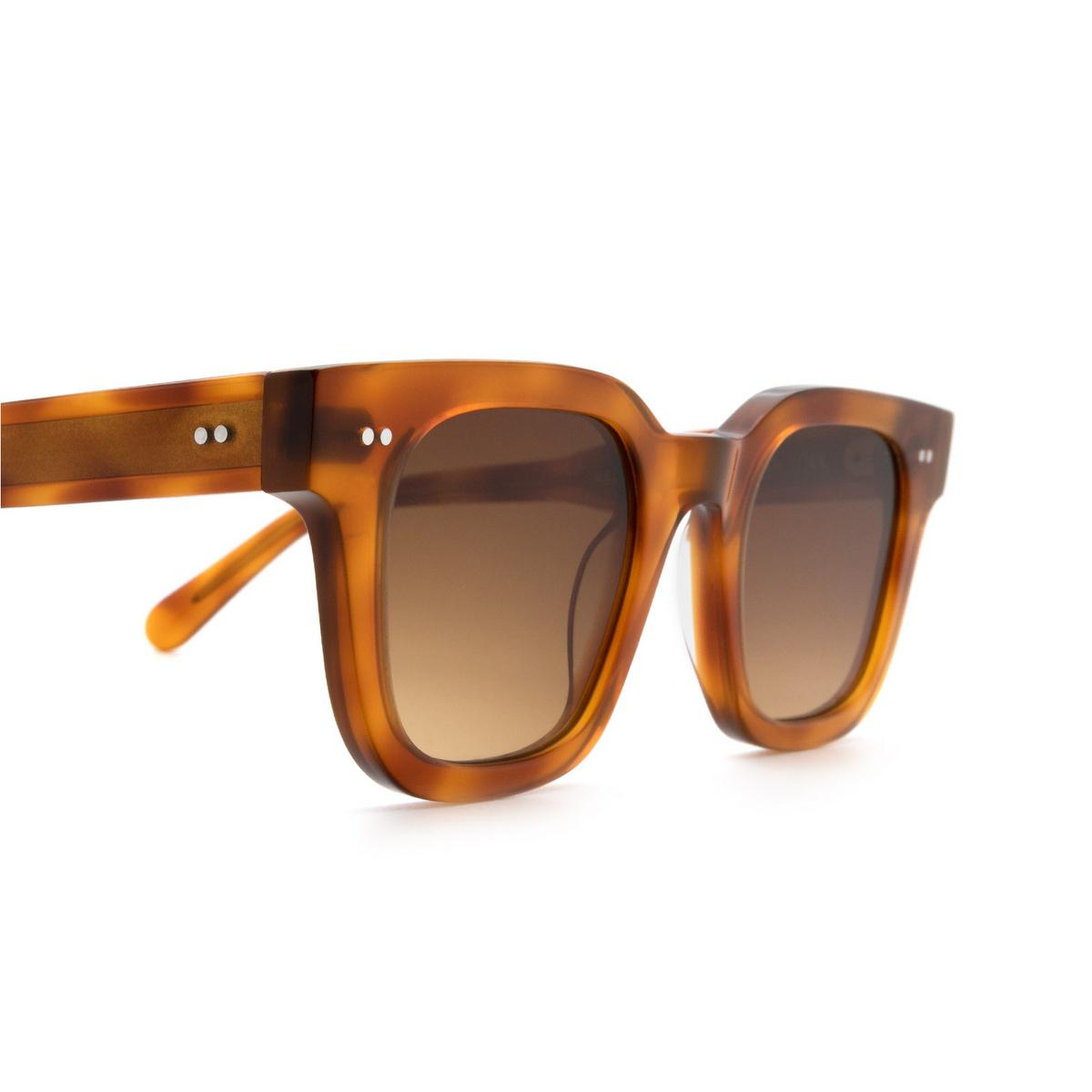 Chimi® Square Sunglasses: 04 color Havana - three-quarters view.