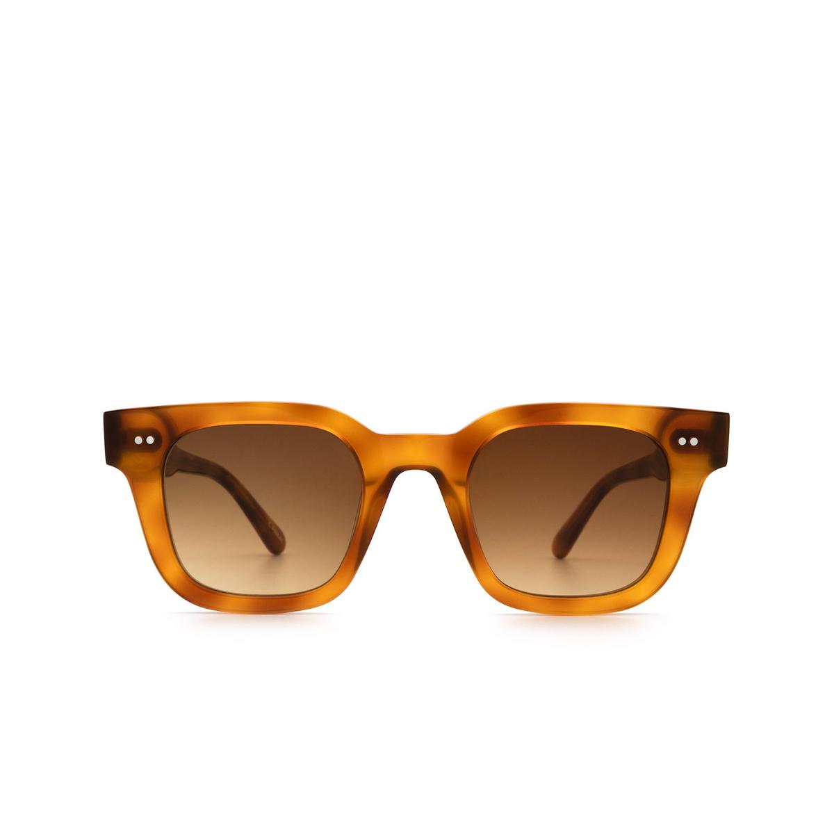 Chimi® Square Sunglasses: 04 color Havana - front view.