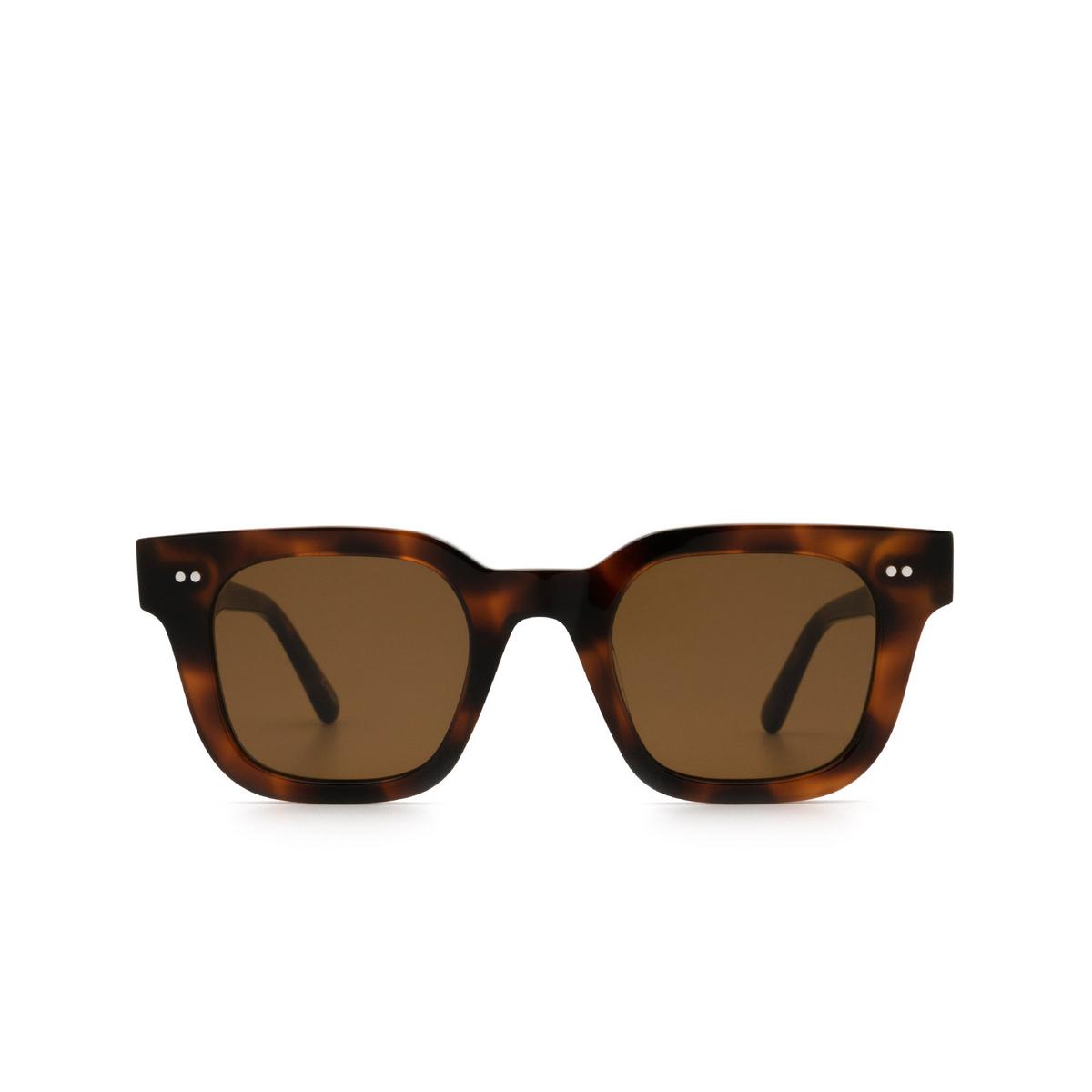 Chimi® Square Sunglasses: 04 color Tortoise - front view.