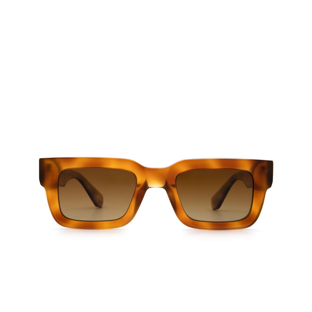 Chimi® Rectangle Sunglasses: 05 color Havana - front view.