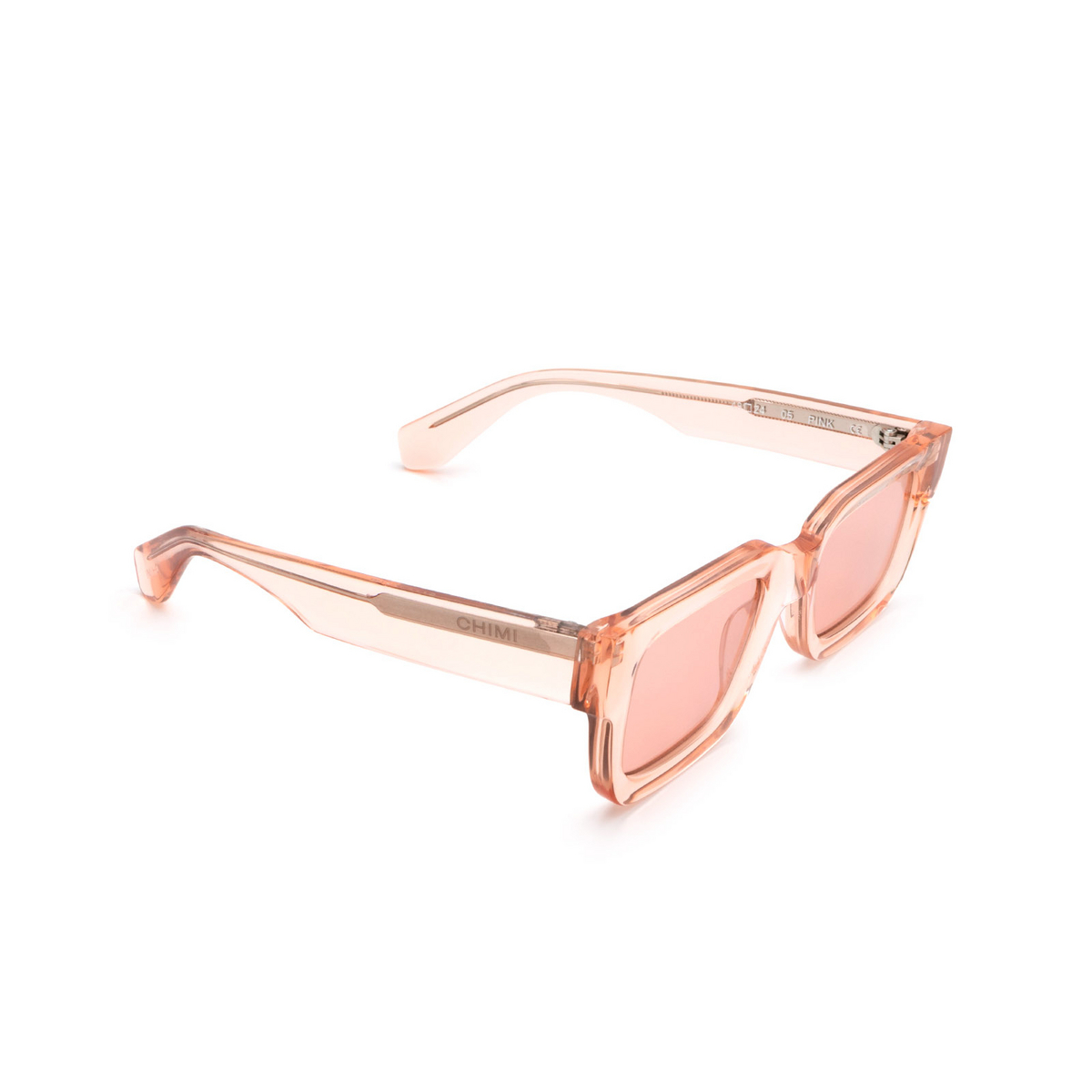 Chimi® Rectangle Sunglasses: 05 color Pink - three-quarters view.