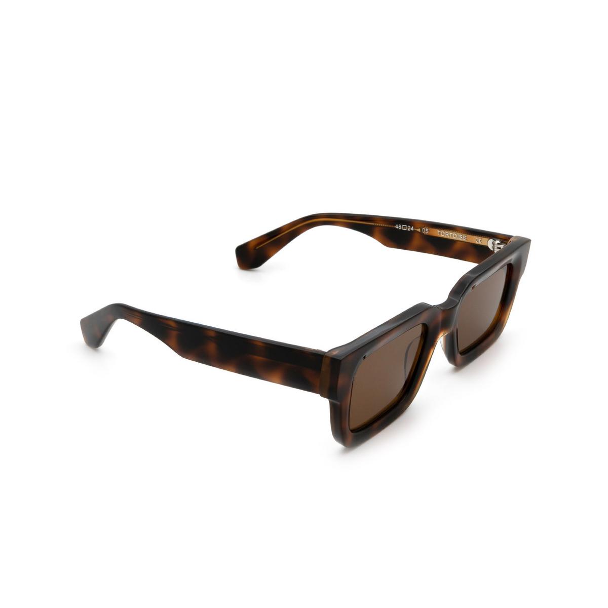 Chimi® Rectangle Sunglasses: 05 color Tortoise - three-quarters view.