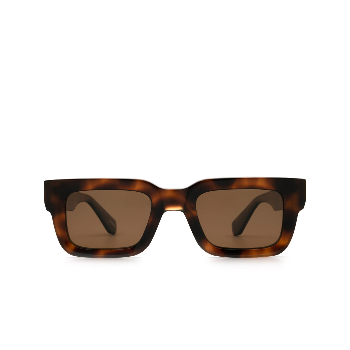 Chimi® Rectangle Sunglasses: 05 color Tortoise - front view.