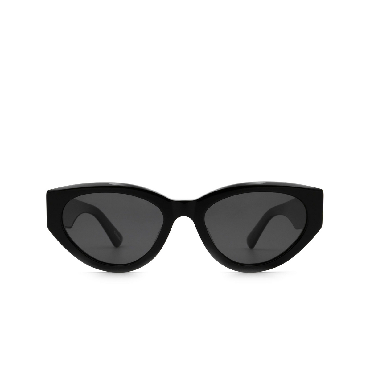 Chimi® Cat-eye Sunglasses: 06 color Black - front view.