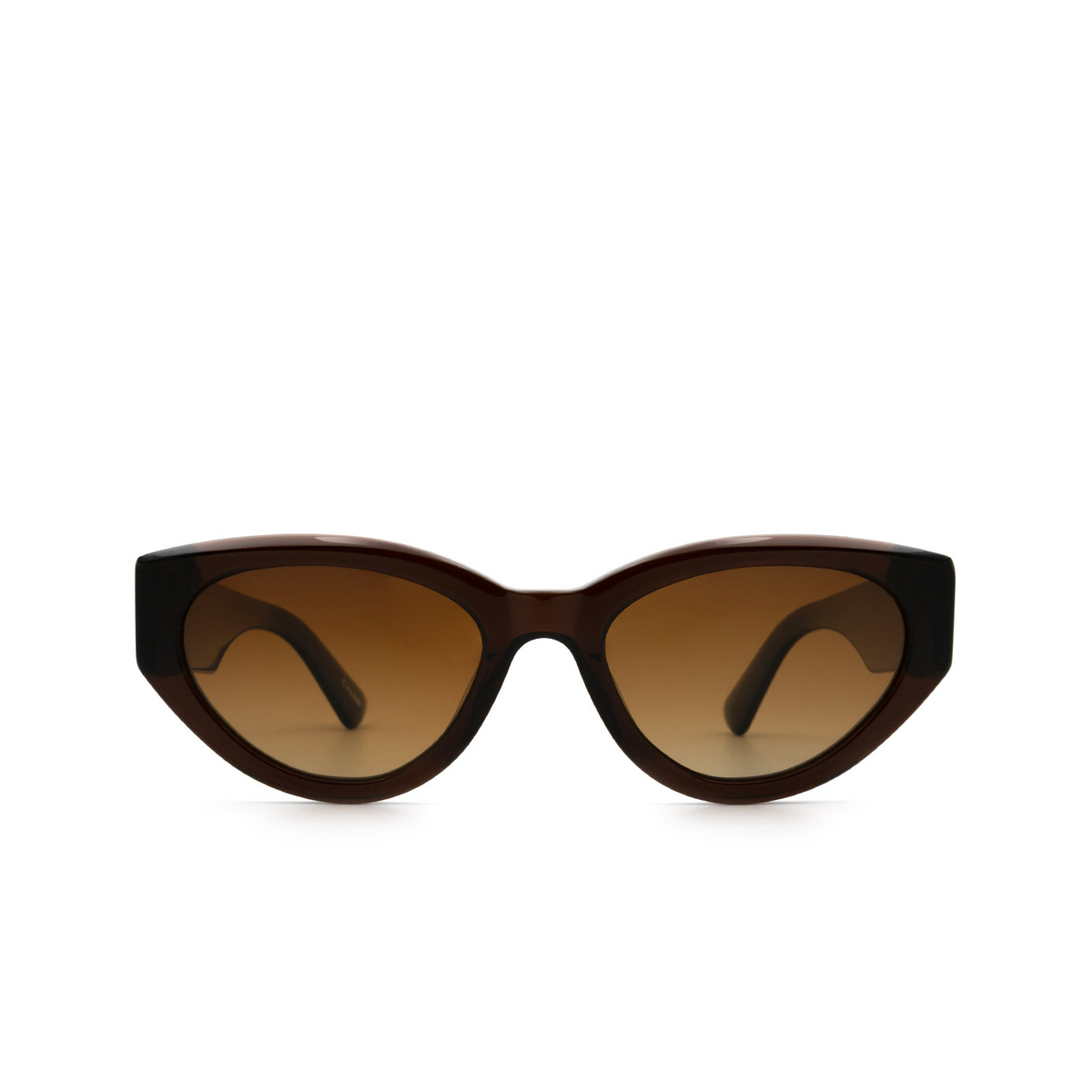 Chimi® Cat-eye Sunglasses: 06 color Brown - front view.