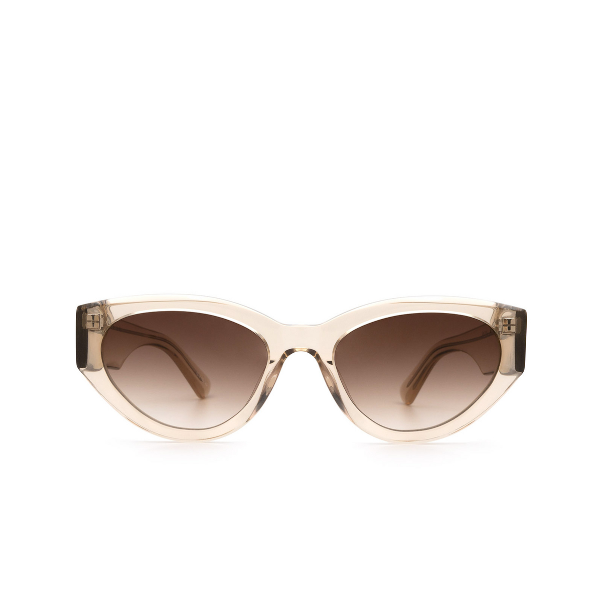 Chimi® Cat-eye Sunglasses: 06 color Ecru - front view.