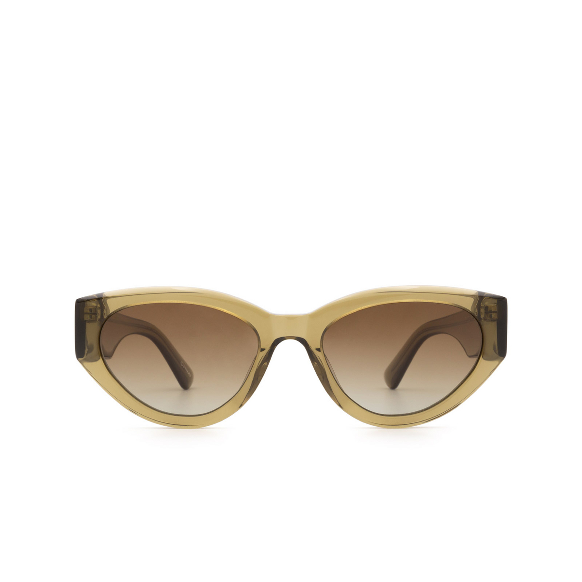 Chimi® Cat-eye Sunglasses: 06 color Green - front view.
