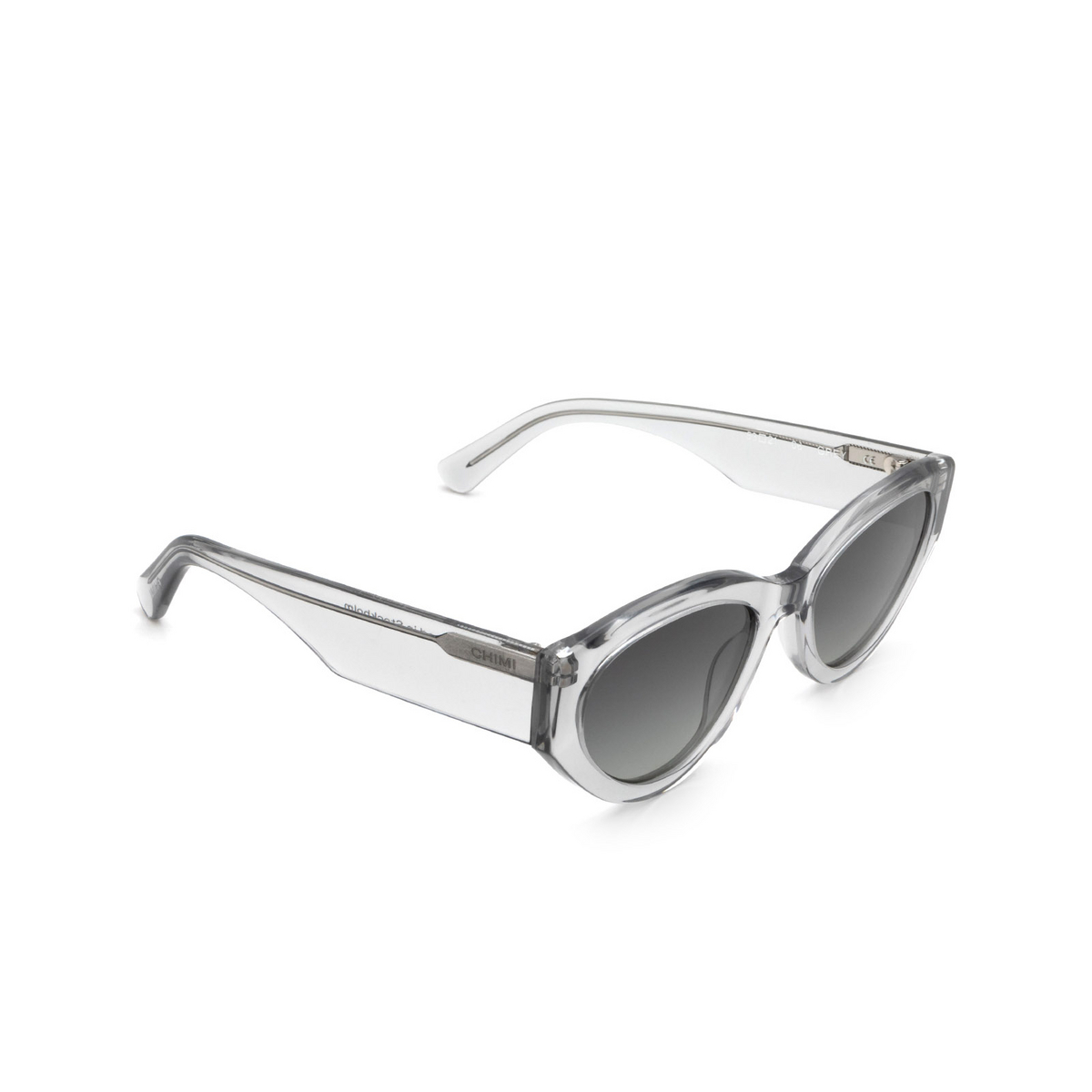 Chimi® Cat-eye Sunglasses: 06 color Grey - three-quarters view.