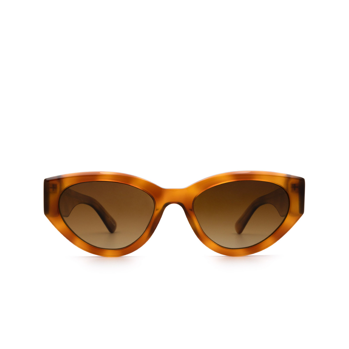 Chimi® Cat-eye Sunglasses: 06 color Havana - front view.