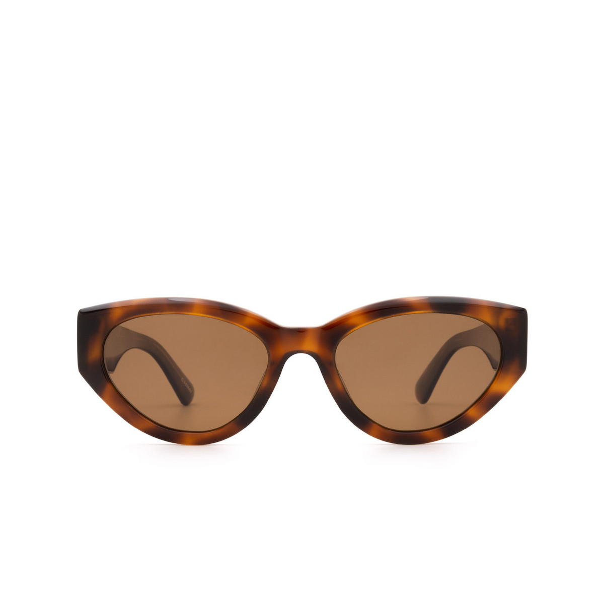 Chimi® Cat-eye Sunglasses: 06 color Tortoise - front view.