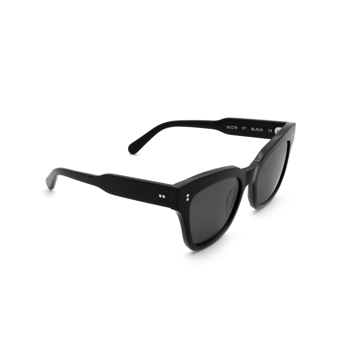 Chimi® Butterfly Sunglasses: 07 color Black - three-quarters view.