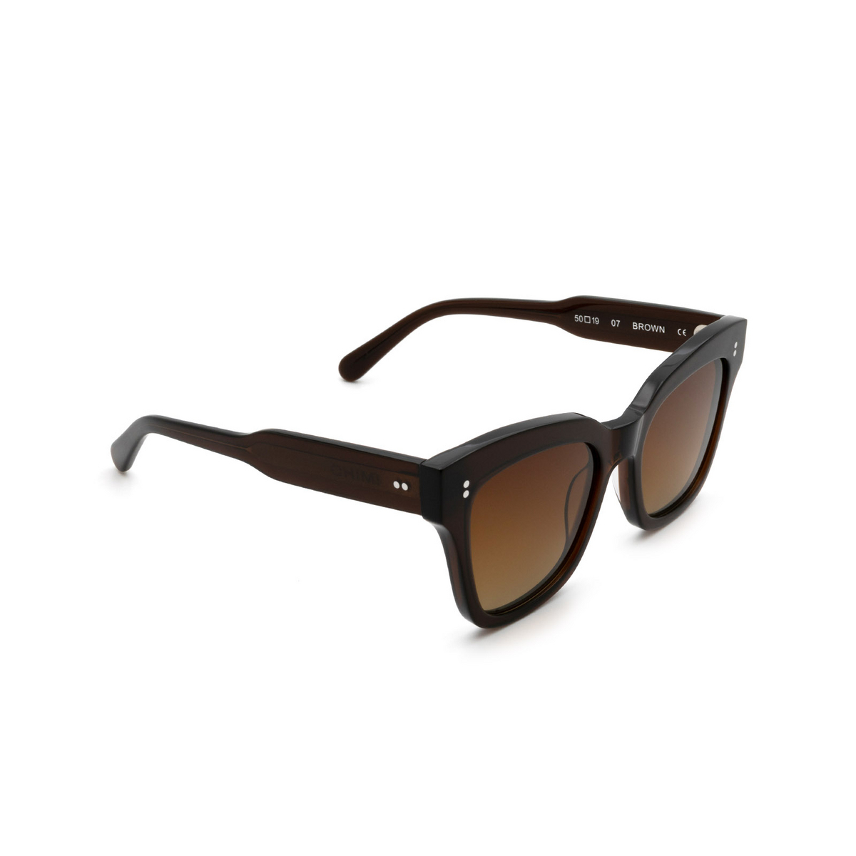 Chimi® Butterfly Sunglasses: 07 color Brown - three-quarters view.