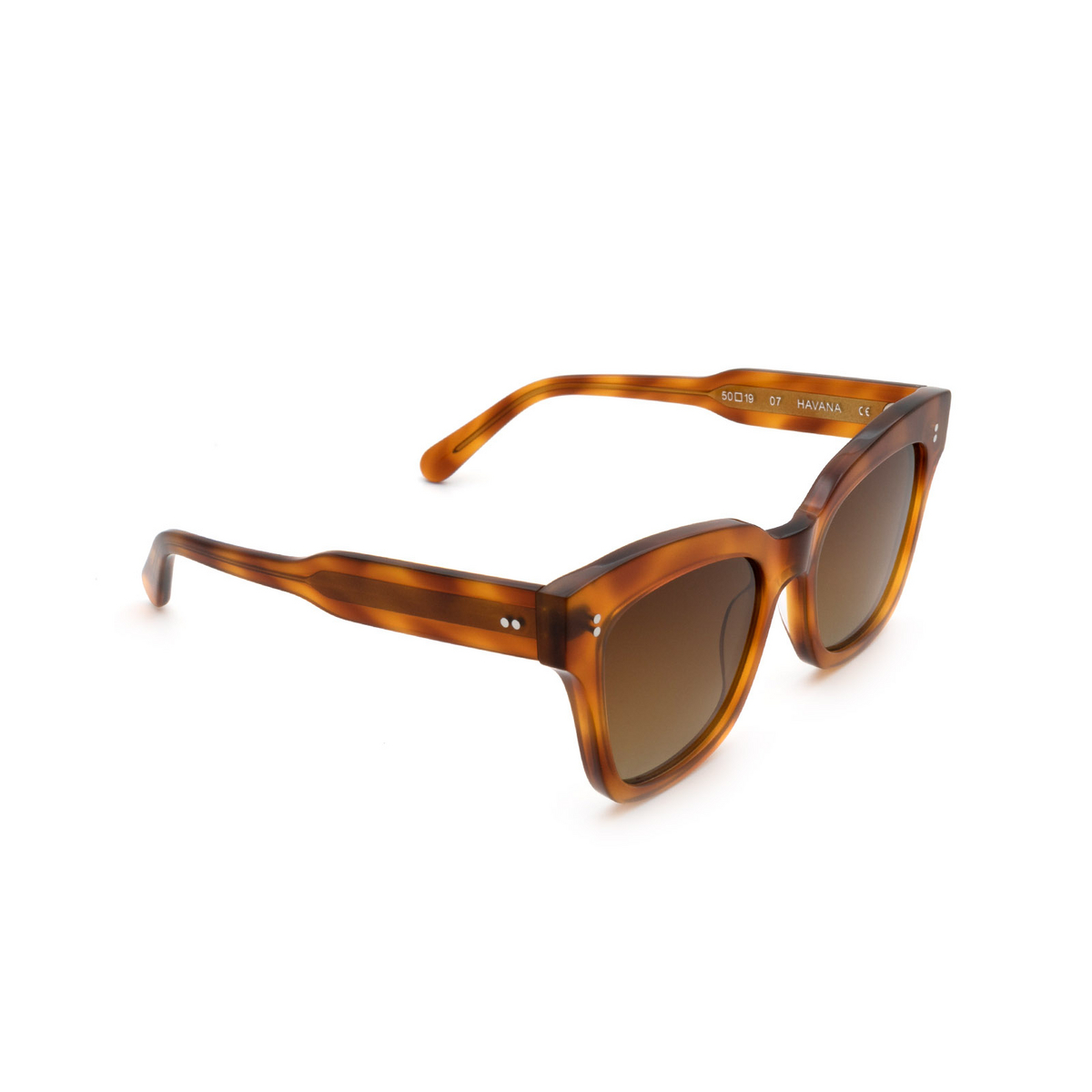 Chimi® Butterfly Sunglasses: 07 color Havana - three-quarters view.