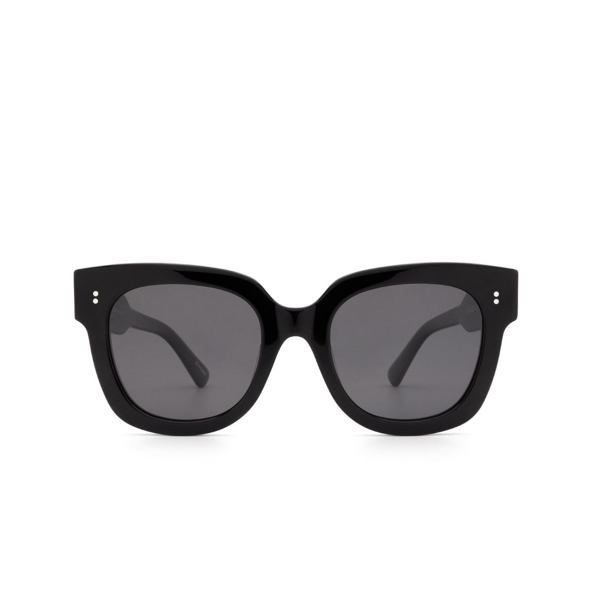 Chimi® Square Sunglasses: 08 color Black - front view.