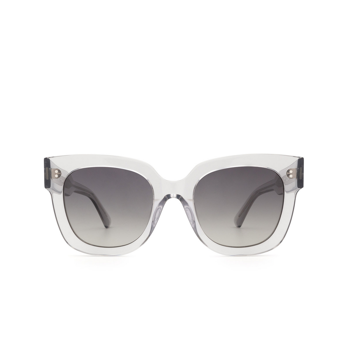 Chimi® Square Sunglasses: 08 color Grey - front view.