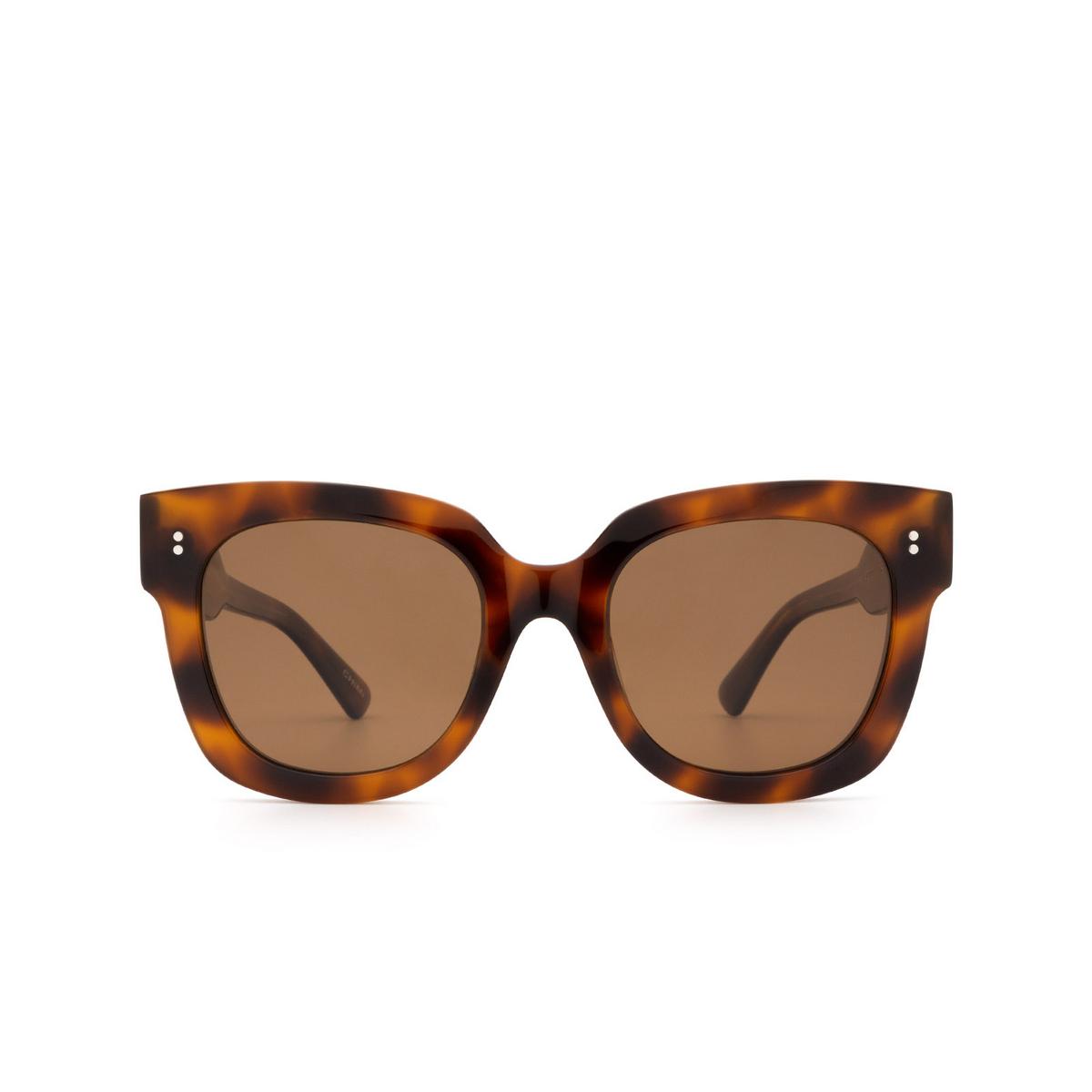 Chimi® Square Sunglasses: 08 color Tortoise - front view.