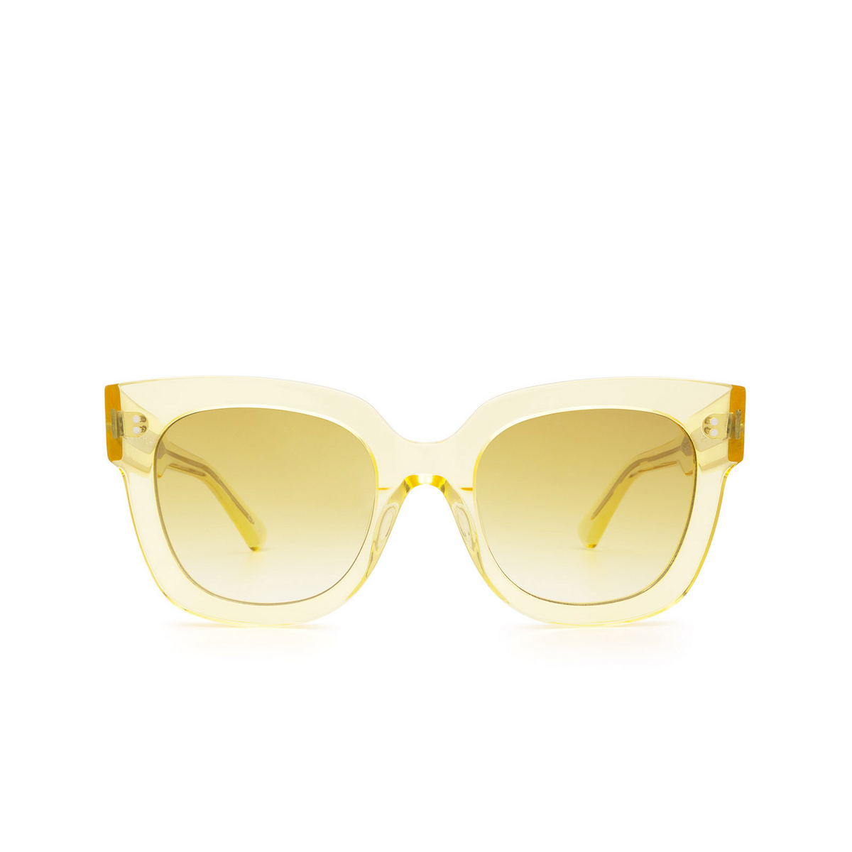 Chimi® Square Sunglasses: 08 color Yellow - front view.