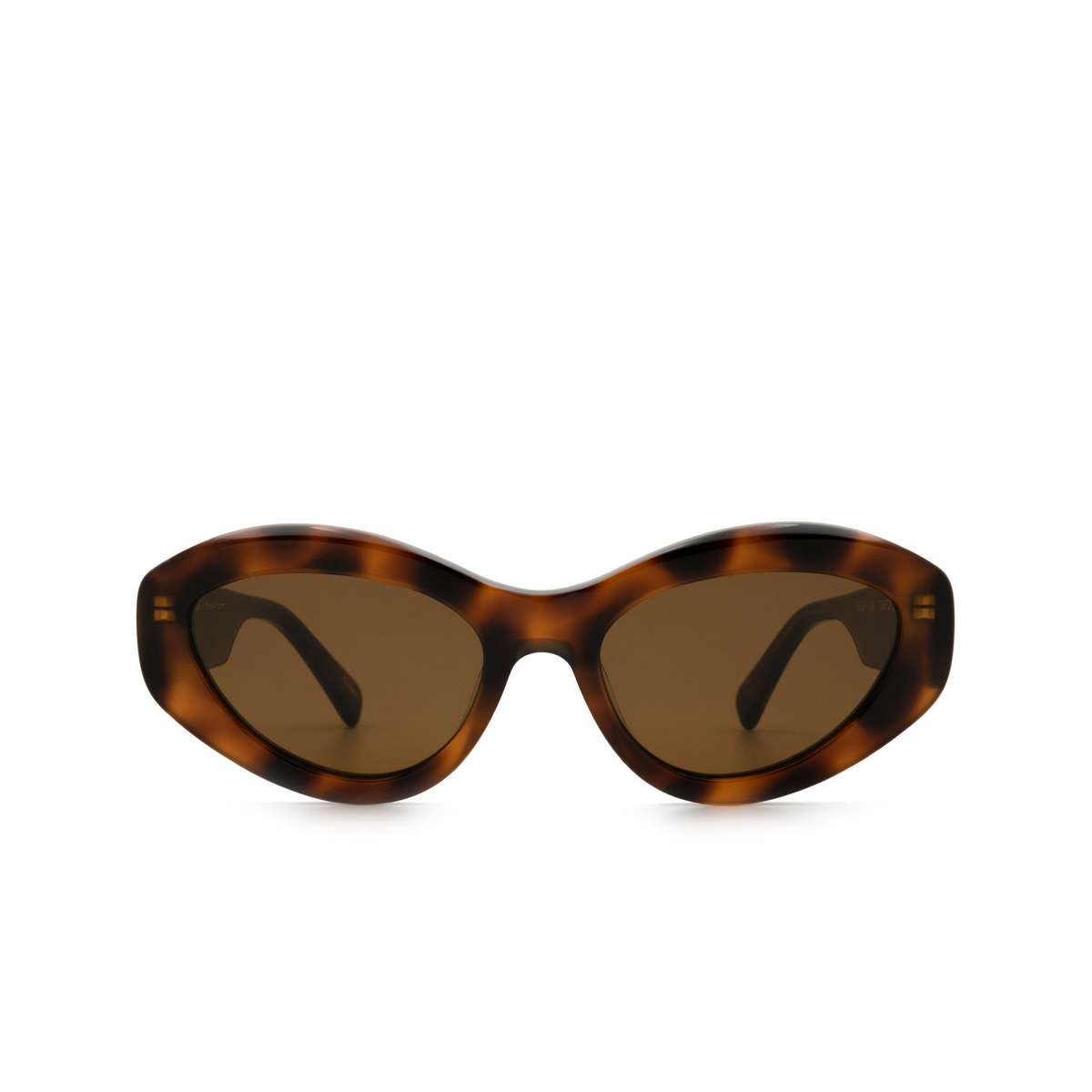 Chimi® Cat-eye Sunglasses: 09 color Tortoise - front view.
