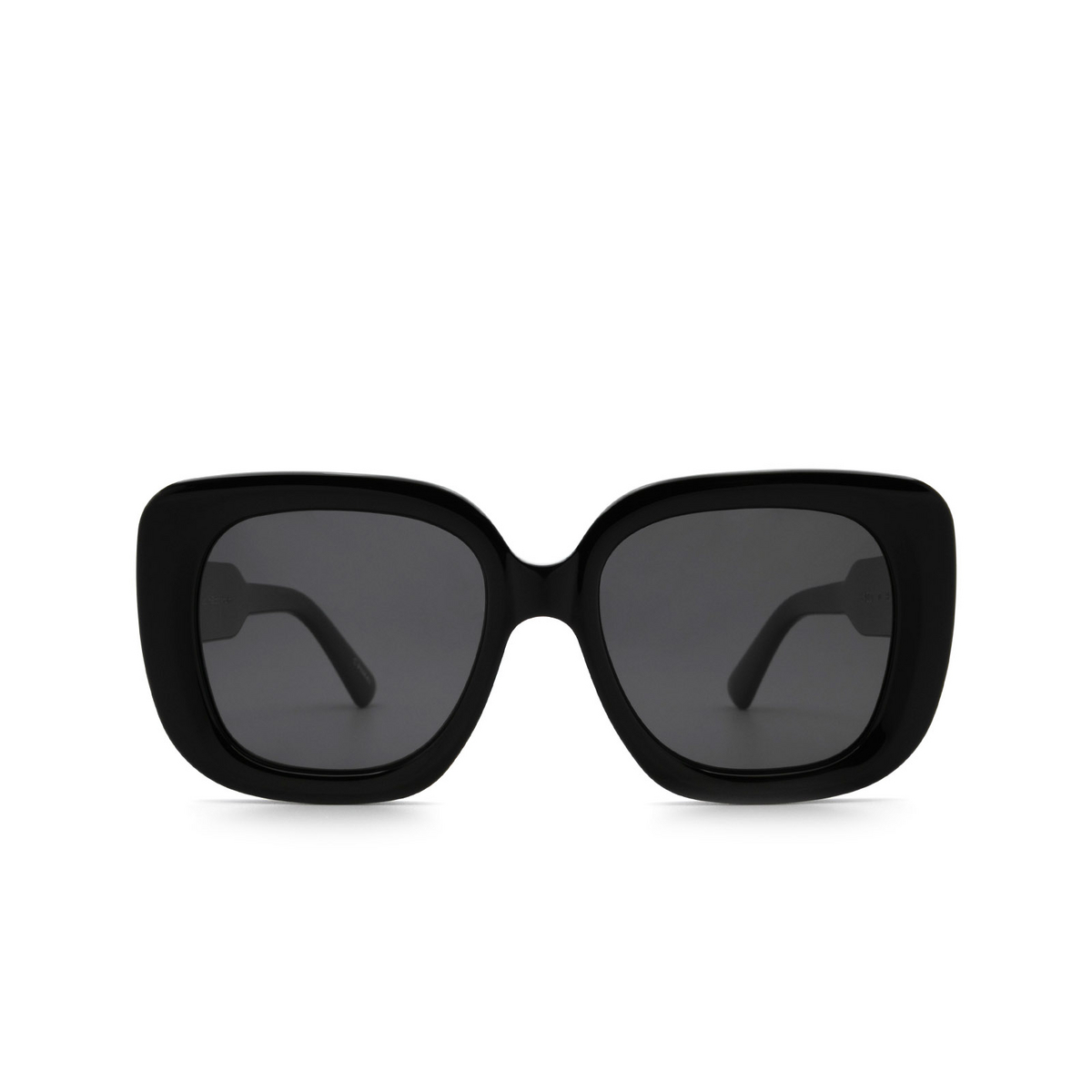 Chimi® Square Sunglasses: 10 color Black - front view.