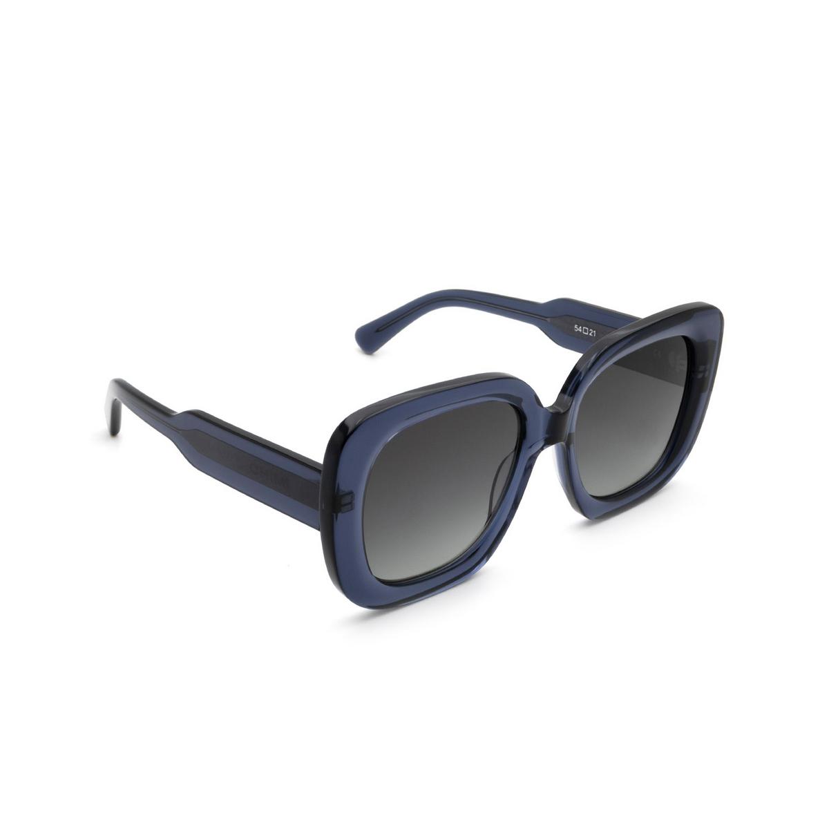 Chimi® Square Sunglasses: 10 color Blue - three-quarters view.
