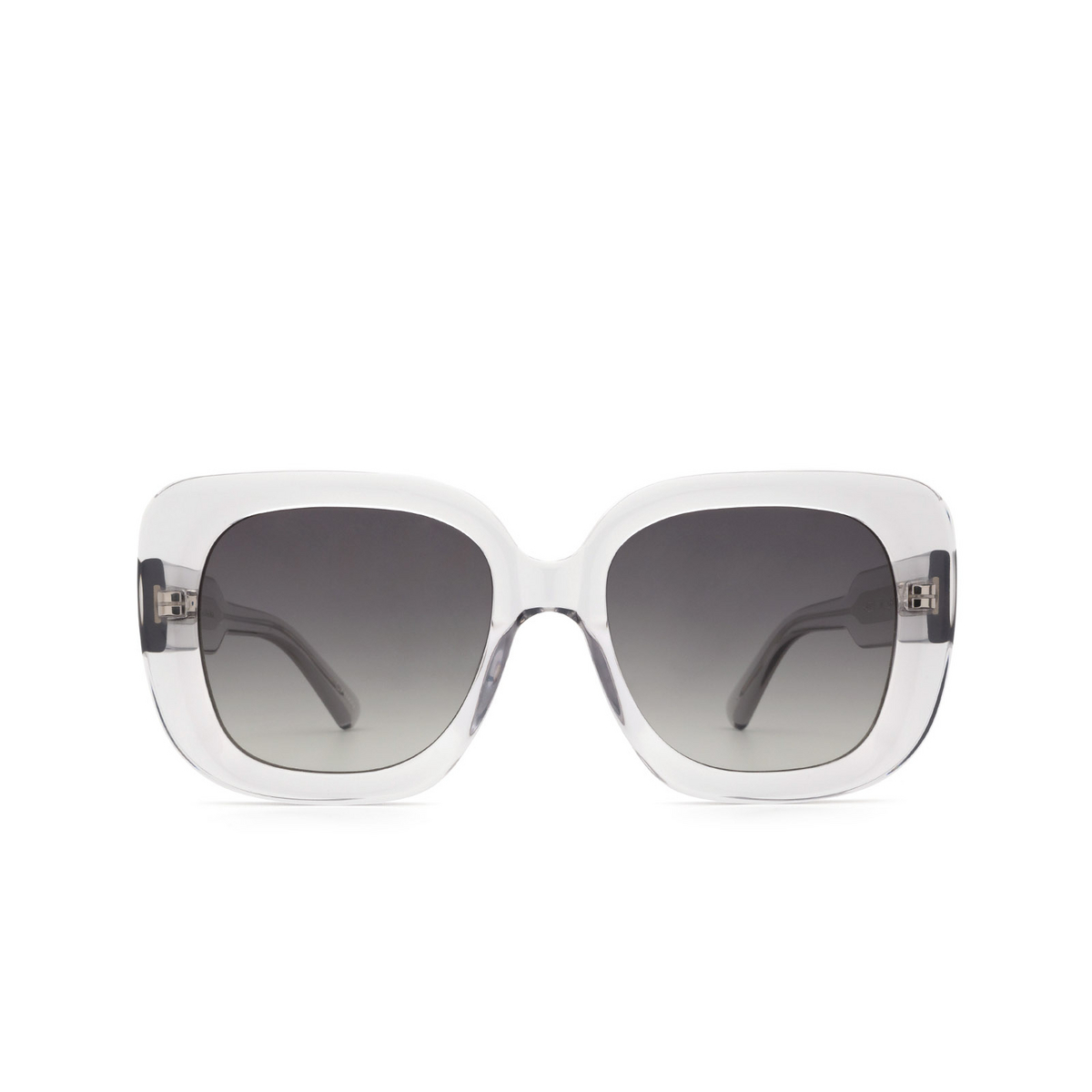 Chimi® Square Sunglasses: 10 color Grey - front view.