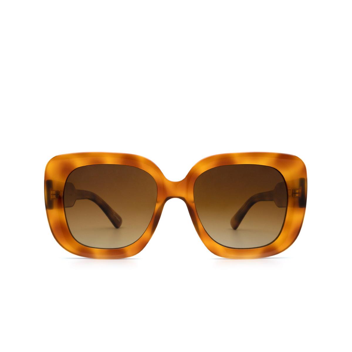Chimi® Square Sunglasses: 10 color Havana - front view.